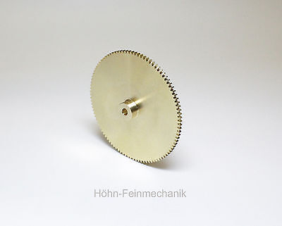 Spur Gear, gear, Module 0,5, Made from Brass, 100 Teeth with Hub