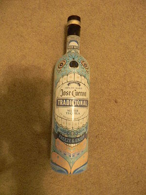 Jose Cuervo 750 ml Tradicional Color Changing Freezer Bottle Empty