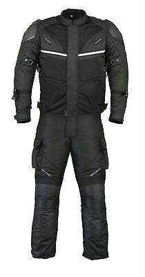 Motorcycle Motorbike Textile Jacket Trouser Pant Suit CE Armoured