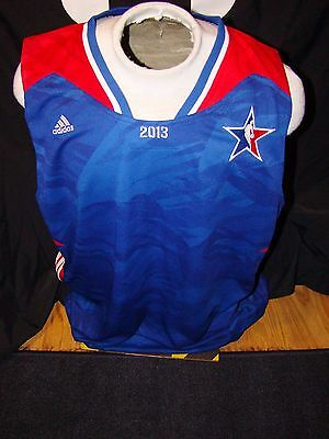 Nwt Mens Adidas Nba 2013 All Star Game Team Issued Blue East Jersey Blank Xxl !!