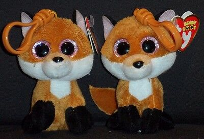 TY BEANIE BOOS - SLICK the FOX KEY CLIP - MINT with TAG - PLEASE READ