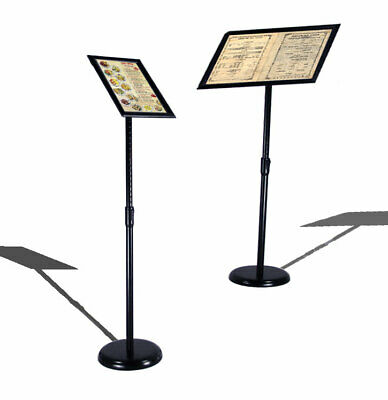 New Adjustable Height And Angle Menu Sign Shop Display Sign Poster Black Stand