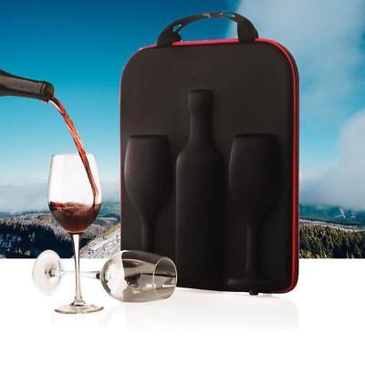 Swirl Wine Bottle and Glass Carrier - Luxurious Elegant Wine Set Package