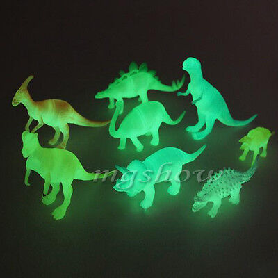 8pcs Night Light Noctilucent Dinosaur Animals Figure Child Toys Kids Baby Gifts