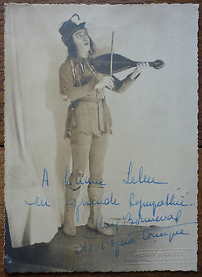 Photo Ancienne Henri Manuel - Dedicace Rene Bonneval De L'opera Comique - Rare