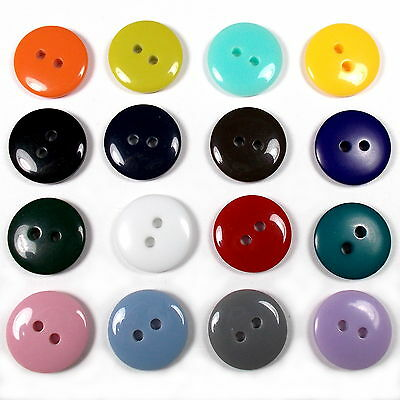 Smartie Buttons Polyester Round 2 Hole - Colour and Size Choice