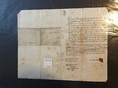 Early Indenture Dated 1722 Bramham