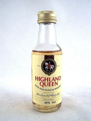Miniature @ 1982 HIGHLAND QUEEN Scotch Whisky Isle of Wine