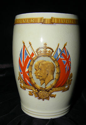 George V and Queen Mary Silver Jubilee Mug