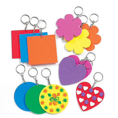 Fabulous Foam Keyring Blanks for Kid's Craft activities (Pack Of 12)