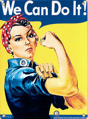New 15x20cm We Can Do It! Rosie The Riveter WW2 metal advertising wall sign