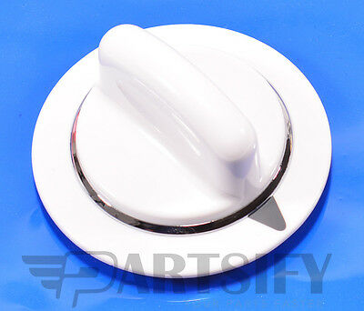 New We01X20374 Clothes Dryer White Timer Knob Fits Ge General Electric Hotpoint