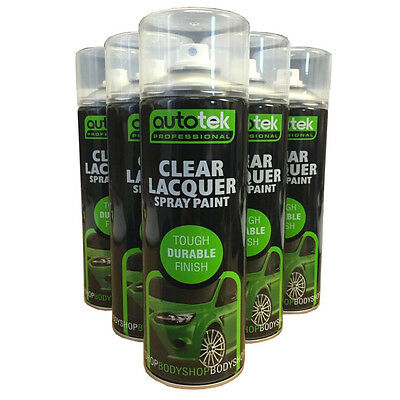 (6 CANS) Clear Laquer Spray Paint Acrylic for Plastic Steel Wood Metal 500ml uv