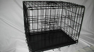 """Heavy duty/gauge 30"""" Deluxe Dog Puppy Pet Cage Car Carrier Crate Folding"""