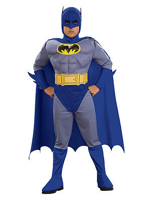 Child Batman Brave And The Bold Muscle Chest Fancy Dress Costume Kids Ages 3-10