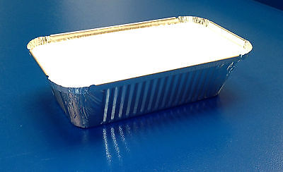 100 x Aluminium Foil Food Containers + Lids No 6a Take a Way Cups