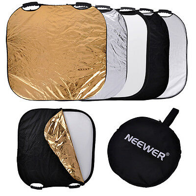 "Neewer Square 43"" Photography Reflector 5-in-1 Circular Collapsible UD#15"