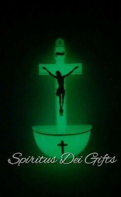 Holy Water Font Glow in the Dark