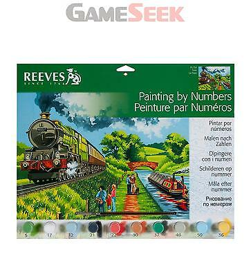 Reeves Painting By Numbers Train Scene