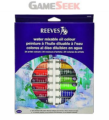 Reeves 10ml Water Mixable Oil Colour Tube Set (Pack of 24)