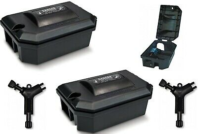 2 x Rat Mouse Strong Large Killer Bait Stations Poison Box mice rats mouse MPC