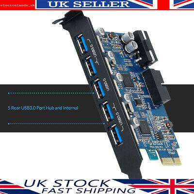 ORICO PCI Express to 7 Port USB 3.0 Hub Card Adapter(5 on PCI Slot & 2 Internal)