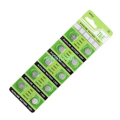 AG7 399 395A SR927W CX57 Alkaline Coin Cell Button Batteries For Watch 1.55V x10