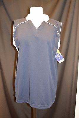Champro Sports M Navy Womens Dri Gear Performance Running Athletic Shirt New
