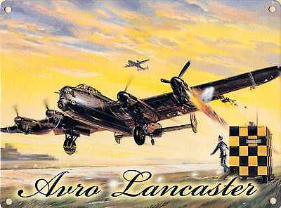 New 15x20cm WW2 Avro Lancaster small metal advertising wall sign