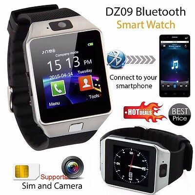 DZ09 Bluetooth inteligente Polso Orologio Smart watch SIM Slot For IOS Android