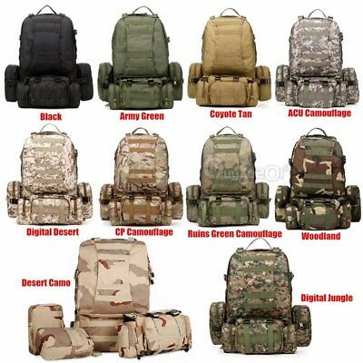 65L Molle Assault Military Tactical Outdoor Rucksacks Backpack Camping Bag Nylon