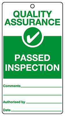 Passed Inspection assurance tie tags FREE P&P various quantities QT5T safety