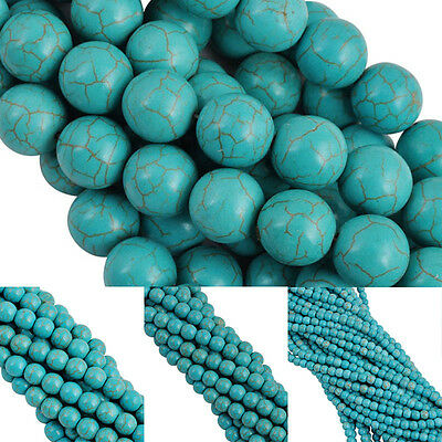 Wholesale Round Natural Turquoise Spacer Loose Beads for Bracelet Necklace