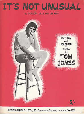 It's Not Unusual - Tom Jones - 1965 Sheet Music