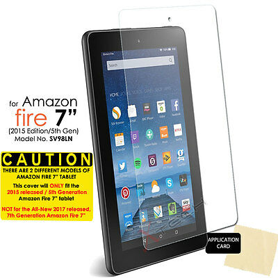 "1x CLEAR Screen Protector Cover for Amazon Fire 7"" Tablet 2015 / 5th Generation"