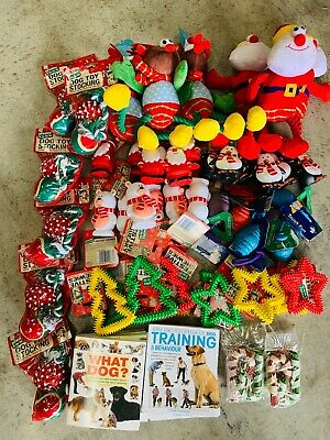 10 X Bargain Christmas Xmas Bundle Toys / Treats Pet Puppy Dog Doggy Chew Toy