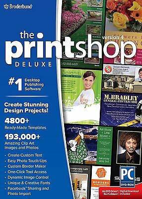 Print Shop Deluxe 4.0 2015 (Latest Version) PC *NEW*