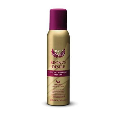 Crazy Angel Bronze Desire Instant Airbrush Medium Self Tan Spray Paraben Free