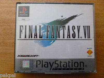 25 New High Quality Sony Playstation PS1 Final Fantasy VII Replacement Cases