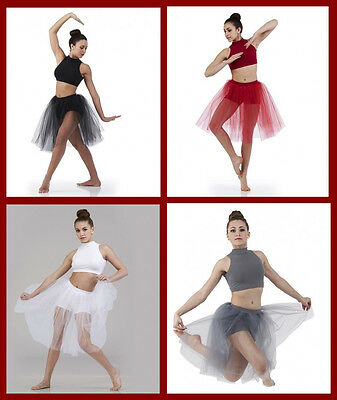 Visions Dance Costume Top and Shorts Attached Skirt Ballet Contemporary Lyrical