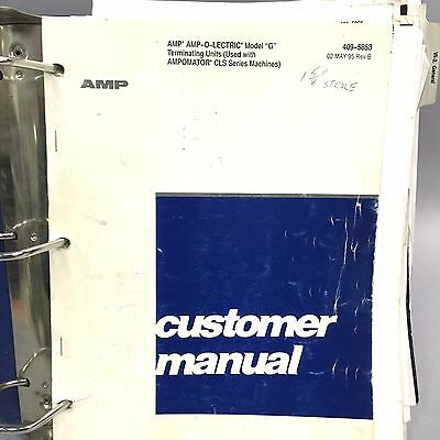 AMP AMPOMATOR CLS IV and AMP-O-LECTRIC Model G Operation User Manual with Drawin