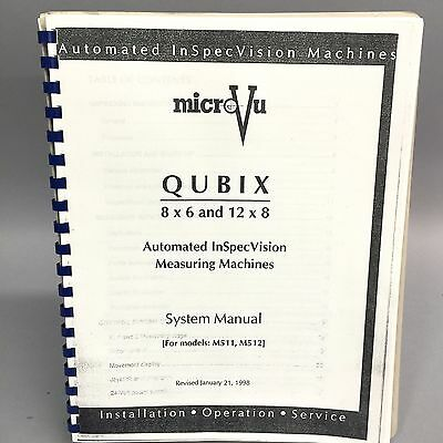 MicroVu QUBIX M511 M512 System Manaul with Drawings