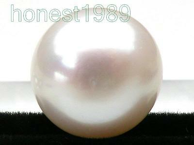 13.5mm loose bread white south sea half drilled pearl DIY pendant earring ring