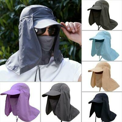 Adult Sun UV Protection Cap Hat Neck Face Cover Mask for Fishing Camping Hiking