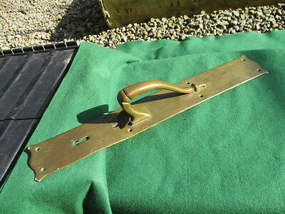 Antique Bronze Door Handle Pull Art Nouveau Victorian Salvage Latch Vintage Old