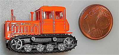 Tracked tractors orange with moving Chains TT 1:120 å