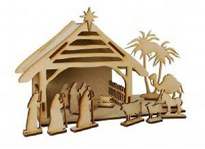 Creative Expressions MDF NATIVITY SET Mary Joseph Jesus Shepherds CEMDFNATIVITY