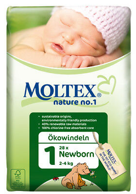 KARTON MOLTEX Nature No1 Ökowindeln Babywindeln NEWBORN MINI MIDI MAXI JUNIOR XL