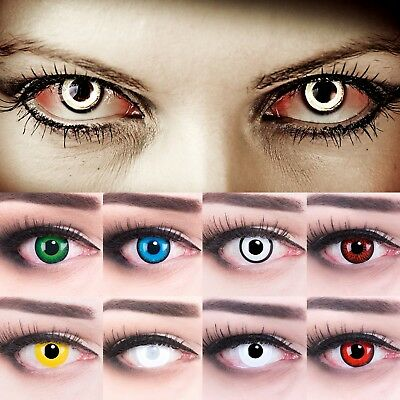 Red colored contact lenses scary vampire lenses for Fasching