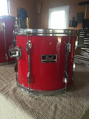 """Pearl Export mounted tom red 13"""" by 10"""""""